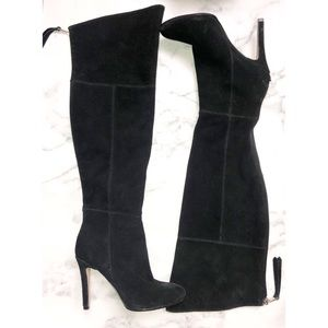 DOLCE VITA | Heeled Suede Black Tall Boots 6.5
